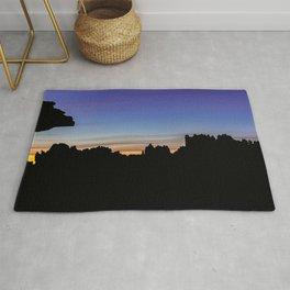 El Torcal Sunset Silhouette Rug