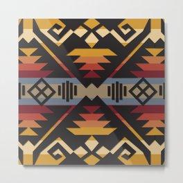 American Native Pattern No. 38 Metal Print