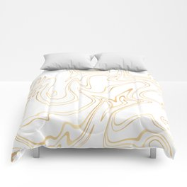 Liquid Gold Marble. Trendy golden ink marbling texture. Suminagashi art. Clear iPhone Case Comforters