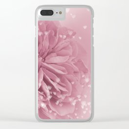 Light Pink Rose with hearts #1 #floral #art #society6 Clear iPhone Case