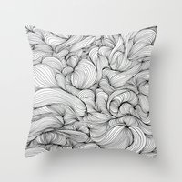 fabric Throw Pillows featuring Fabric by DuckyB