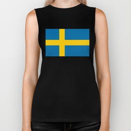 Flag of Sweden - Authentic (High Quality Image) Biker Tank
