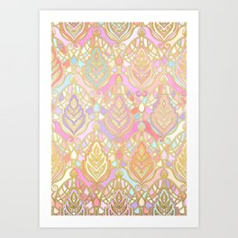Rosy Opalescent Art Deco Pattern Art Print