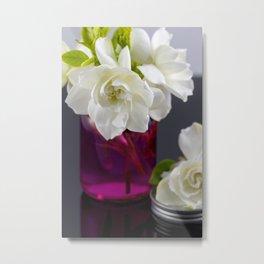 Gardenia in a Fuchsia Jar  Metal Print