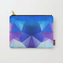 Abstract geometric polygonal pattern inih and pink tones . Carry-All Pouch