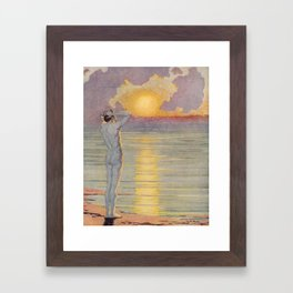 """""""I will confront these shows of the day and night"""" (Margaret C. Cook, Leaves of Grass, 1913) Framed Art Print"""