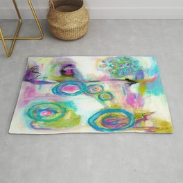 Driven To Distraction, Abstract Landscape Art Rug