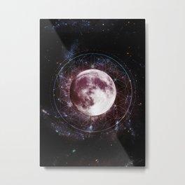 Moondala - Moon Sacred Geometry Mandala Metal Print