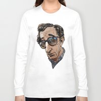woody allen Long Sleeve T-shirts featuring Woody Allen by Mitt Roshin