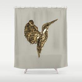 Golden Kingfisher Shower Curtain