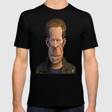 Celebrity Sunday ~ Tom Waits Mens Fitted Tee Black X-LARGE