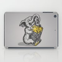 drunk iPad Cases featuring Drunk Elephant by The Quarrelsome Yeti