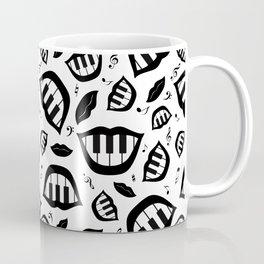 Piano smile pattern in black&white Coffee Mug