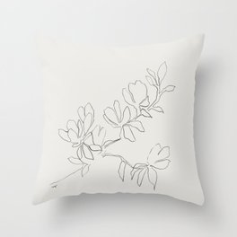 Floral Study no. 4 Throw Pillow