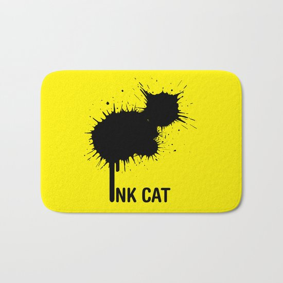 INK CAT Bath Mat