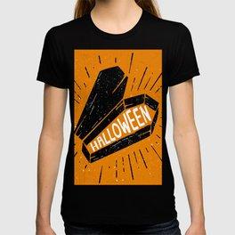 Halloween Coffin (Orange) T-shirt