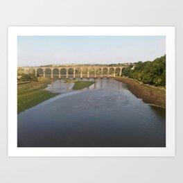 Berwick Upon Tweed Royal Border Bridge by FGW Art Print