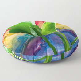 Abstract Pothos Floor Pillow