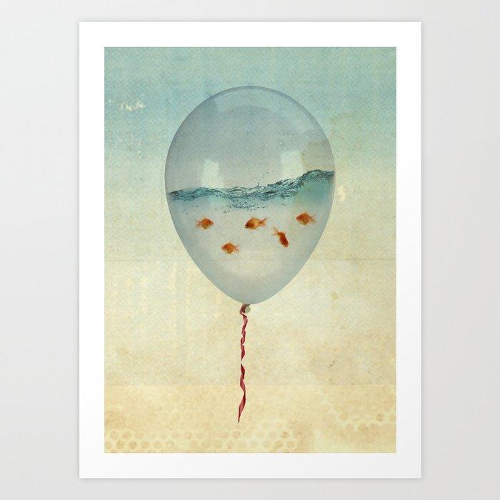BALLOON FISH-2 Art Print
