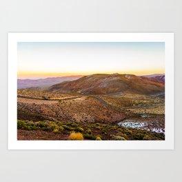 Death Valley - Dante's View, Rear View 2 Art Print