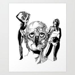 Owlman Art Print