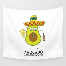 Avocado - A mexican lawyer Wall Tapestry