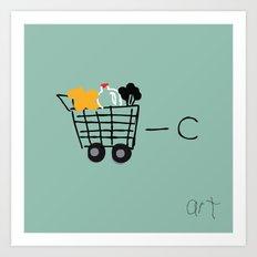 Cart Minus C Equals Art Art Print