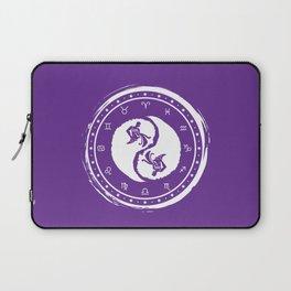 Aquarius Yin Yang Eleventh Zodiac Sign Laptop Sleeve