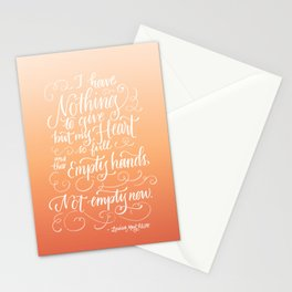 Not Empty Now Stationery Cards