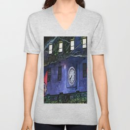 GNOMES IN THE CLOCKTOWER CHILDRENS GRAPHIC ART  Unisex V-Neck
