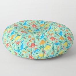Dinos Green Floor Pillow