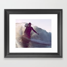Greenough Films Kneeboard Wake Framed Art Print
