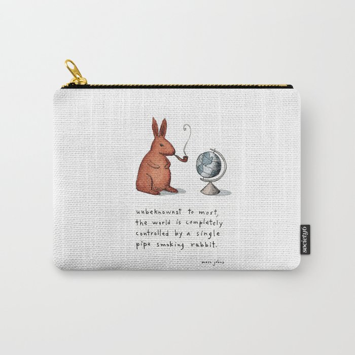 Pipe-smoking rabbit Carry-All Pouch