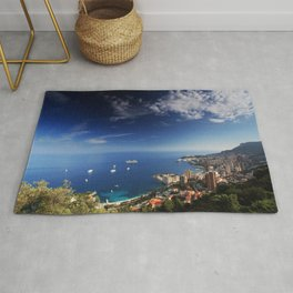 Monaco, French riviera, Sea side, Coastline, Riviera, holiday Rug