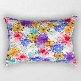 Printed Silk Exotic Garden Rectangular Pillow