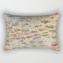 Vintage Map of Europe (1842) Rectangular Pillow