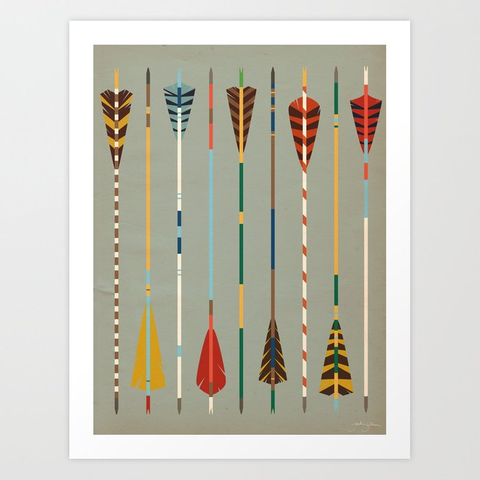 Vintage Arrows Art Print
