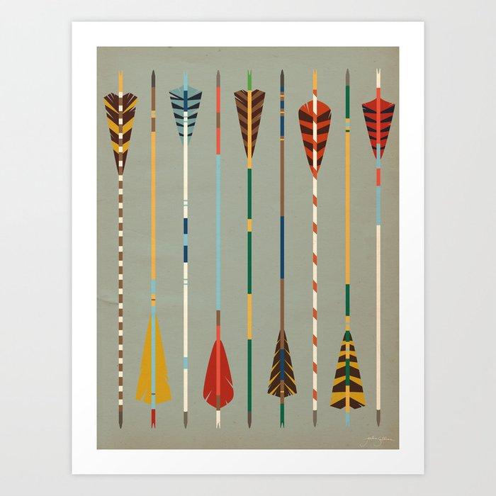 Vintage Arrows Art Print