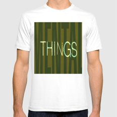 MENTALTHINGS White MEDIUM Mens Fitted Tee