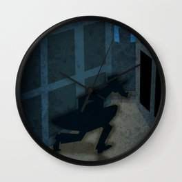 Running in the Night Unicorn Wall Clock