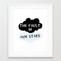 the fault in our stars Framed Art Prints featuring The Fault In Our Stars by swiftstore
