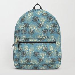 Seeds on blue Backpack