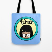 tina Tote Bags featuring Tina by Page394