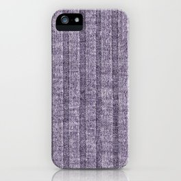 Lilac Jersey Knit Pattern iPhone Case