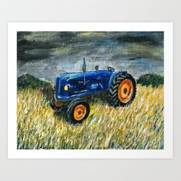Tractor Painting Art Print