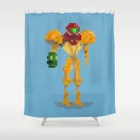 samus Shower Curtains featuring Samus by GregSuj