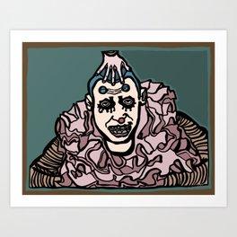 Profoundly Insane Clown Art Print