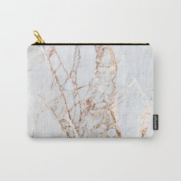 Gold Grey and White Sparkle Marble Carry-All Pouch