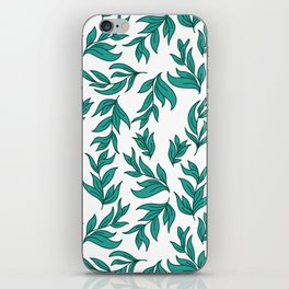 Wild Leaves / Clutter Pattern iPhone Skin
