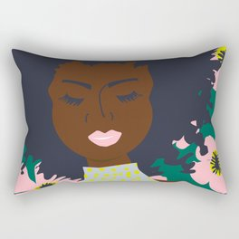 Thoughts of Pink Blooms Everywhere No 01  Rectangular Pillow